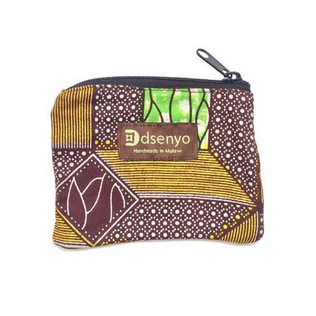 Dsenyo Fair Trade Change Purse - Green Geometric