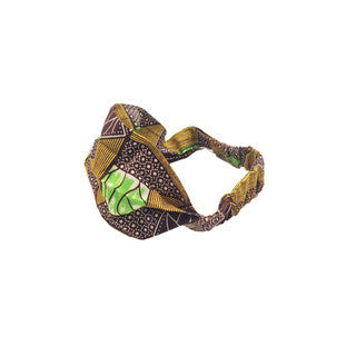 Dsenyo Fair Trade Stretch Headband Small-Green Geometric