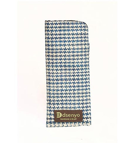 Dsenyo Reading Glass Case - Royal Blue Houndstooth