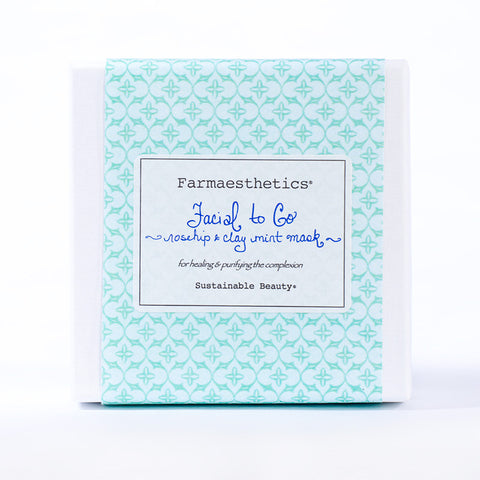Farmaesthetics-Facial To-Go Gift Sets - Rosehip and Clay Mint Mask