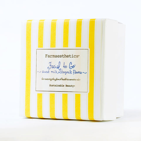 Farmaesthetics-Facial To-Go Gift Sets - Sweet Milk and Chamomile Flowers
