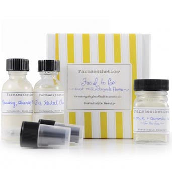Farmaesthetics-Facial To-Go Gift Sets - Sweet Milk and Chamomile Flowers 2