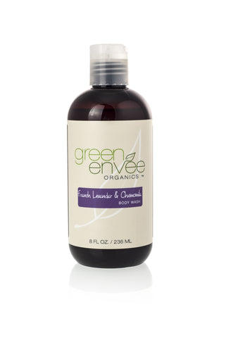 Green Envee-Body Wash - French Lavender and Chamomile - life by U