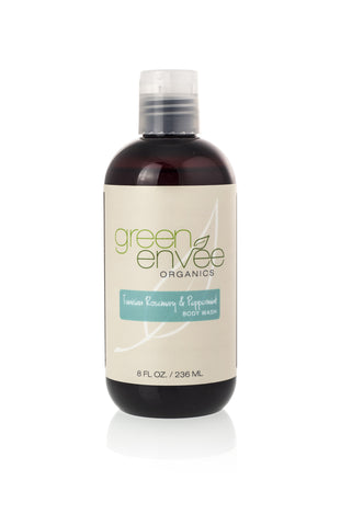 Green Envee-Body Wash - Tunisian Rosemary & Peppermint - life by U