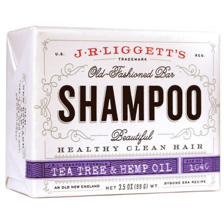 JR Liggett's Shampoo Bar - Fragrance Free - Tea Tree & Hemp Oil 3.5 oz - life by U