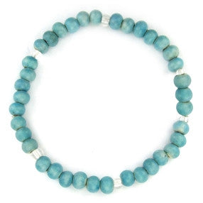 leakey collection pearl bracelet porcelian turquoise