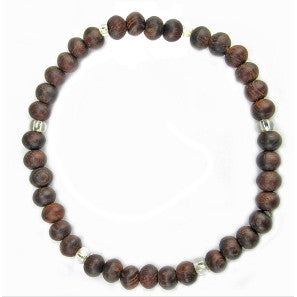 Leakey Collection Pearl Bracelet, Wood Espresso - Fair Trade - life by U