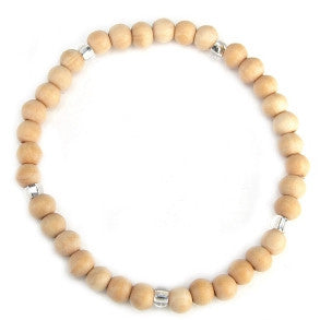 Leakey Collection Pearl Bracelet, Wood Vanilla - Fair Trade - life by U
