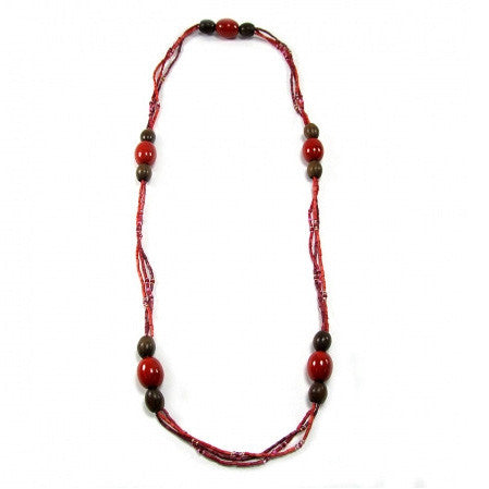 Leakey Collection Amani Necklace Red