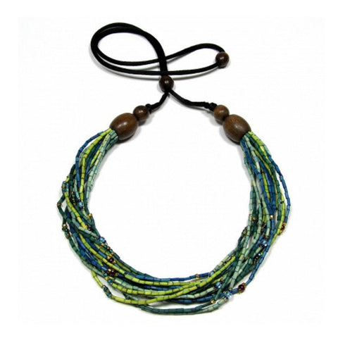 Leakey Collection Multi-strand Necklace - Spring Grass FAIR TRADE