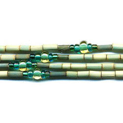 "Leakey Collection 26"" Zulugrass Single Strand- Jade - Fair Trade"