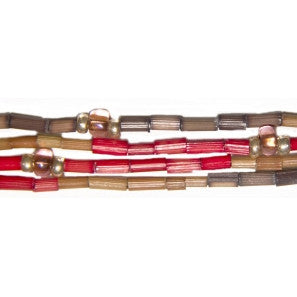 "Leakey Collection 26"" Zulugrass Single Strand- Fiery D  Fair Trade - life by U"