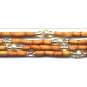 "Leakey Collection 26"" Zulugrass Single Strand Safari Silver - Fair Trade"