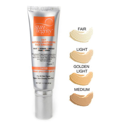 SUNTEGRITY - 5 IN 1 NATURAL MOISTURIZING FACE SUNSCREEN - life by U