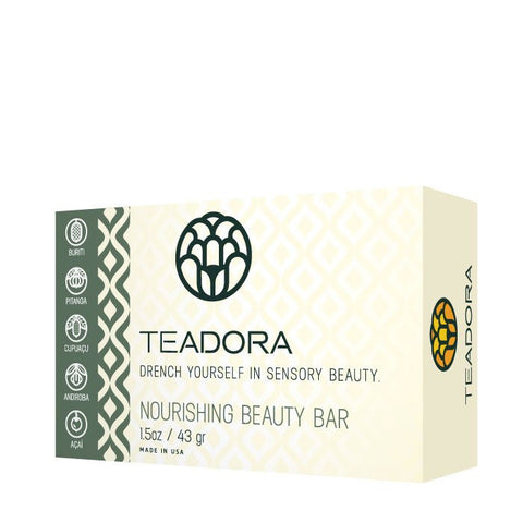 Teadora - Face and Body Exfoliating Clay Bar Rainforest at Dusk 1.5 oz - life by U