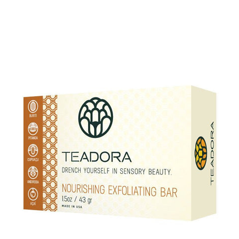 Teadora - Face and Body Exfoliating Clay Bar Rainforest at Dawn 1.5 oz - life by U