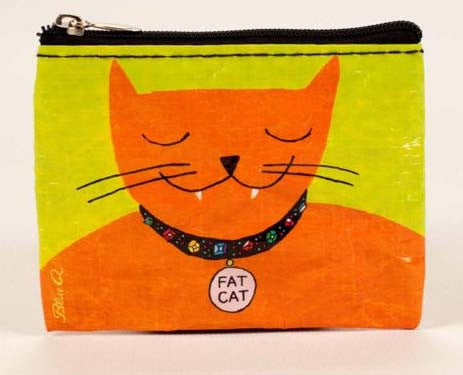 Blue Q- Coin Purse Fat Cat
