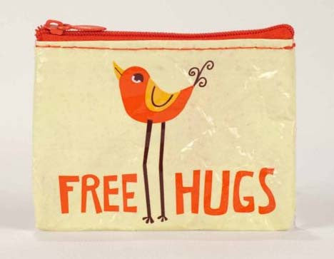 Blue Q- Coin Purse Free Hugs