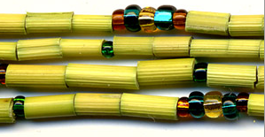 "Leakey Collection 26"" Zulugrass Single Strand- Emerald - Fair Trade"