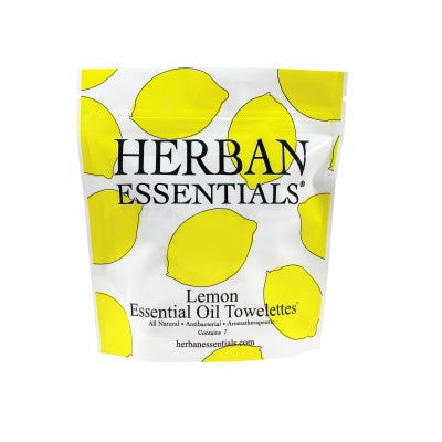 Herban Essentials Towelettes - Lemon 7 ct.