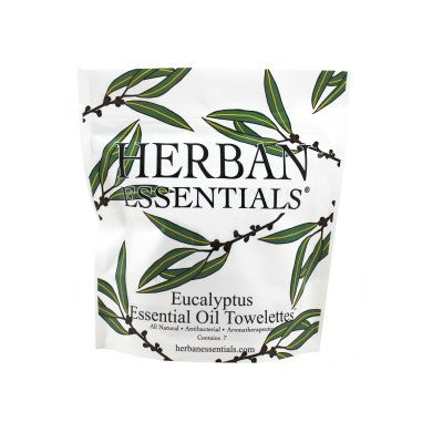 Herban Essentials Towelettes - Eucalyptus 7 ct