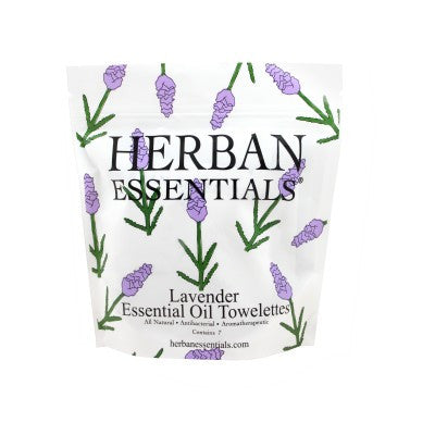 Herban Essentials Towelettes - Lavender 7 ct. - life by U