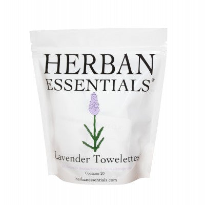 Herban Essentials Towelettes - Lavender 20 ct. - life by U