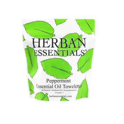 Herban Essentials Towelettes - Peppermint 7 ct.