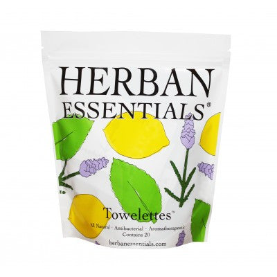 Herban Essentials Towelettes - Mixed 20 ct. - life by U