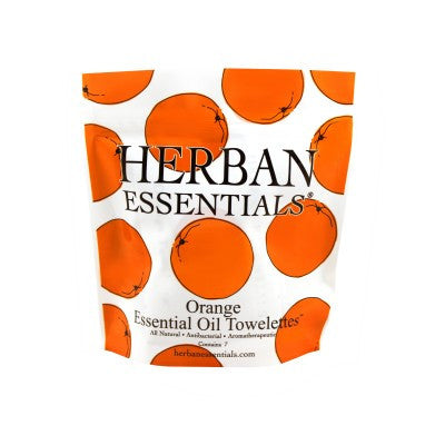 Herban Essentials Towelettes - Orange 7 ct. - life by U