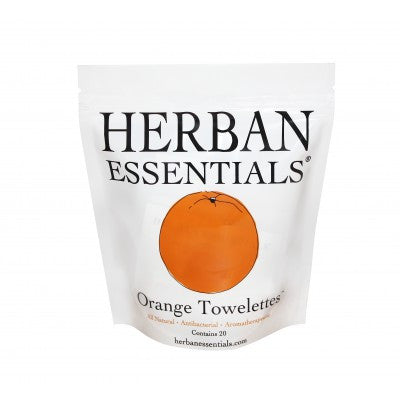 Herban Essentials Towelettes - Orange 20 ct. - life by U
