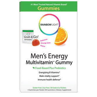 Rainbow Light Men's Energy Multivitamin Gummy 30 Packets