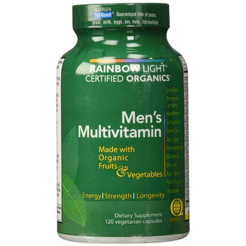 Rainbow Light Certified Organic Men's Multivitamin 120 caps