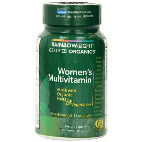 Rainbow Light Certified Organic Women's Multivitamin 120 caps