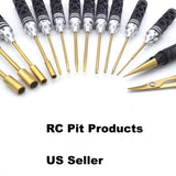 RC Pit Products 14 Piece Honeycomb Tool Set w/Case in Black