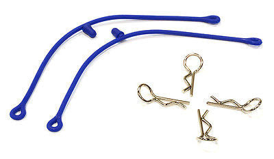 RC Body Clips w/ 85mm Leash Retainers & Clips Blue C25815Blue  US Seller