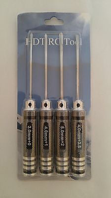 Hex Driver Set 4pcs piece Screwdriver Size:PH3.0+/PH4.0+/ PH5.0+/SB4.0- USA Ship