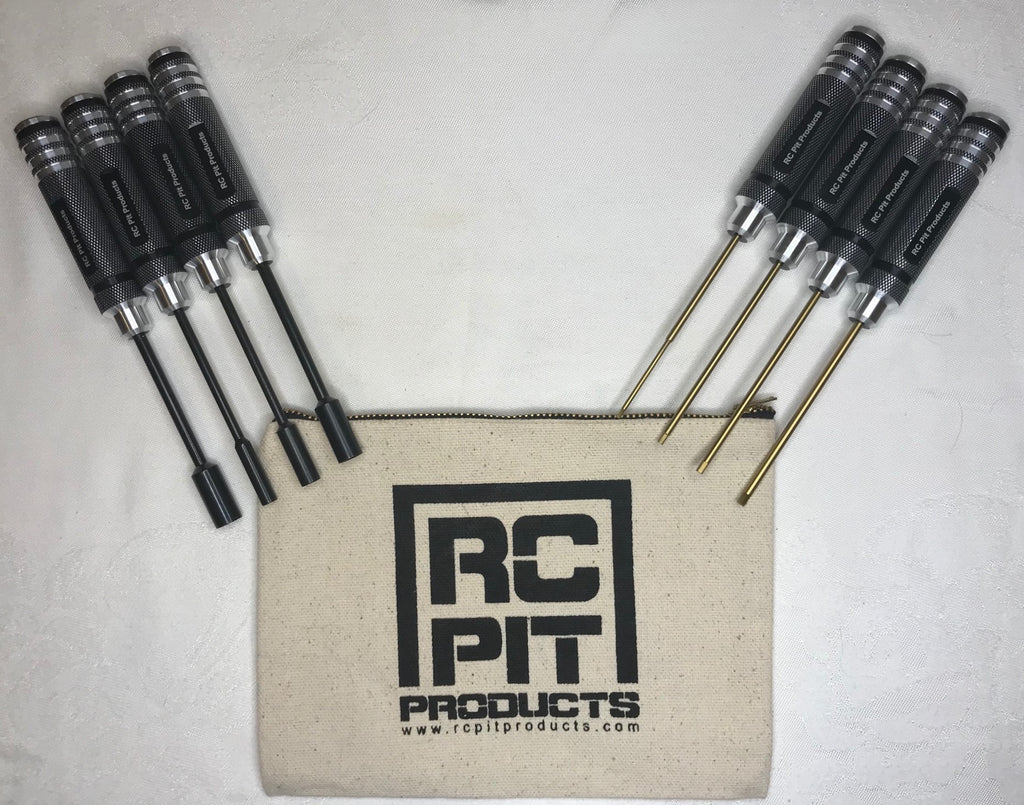 RC Pit Products Tool Bag w/8 pcs Full Size Hex Driver Set w/tool bag USA Seller