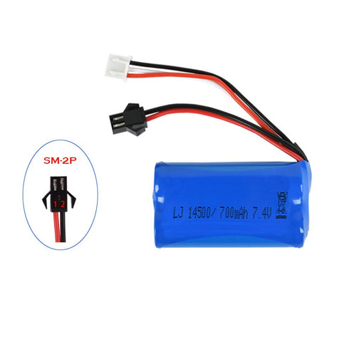WPL D12 RC Car Battery 7.4v 2S 500mah Li-lon battery For WPL D12
