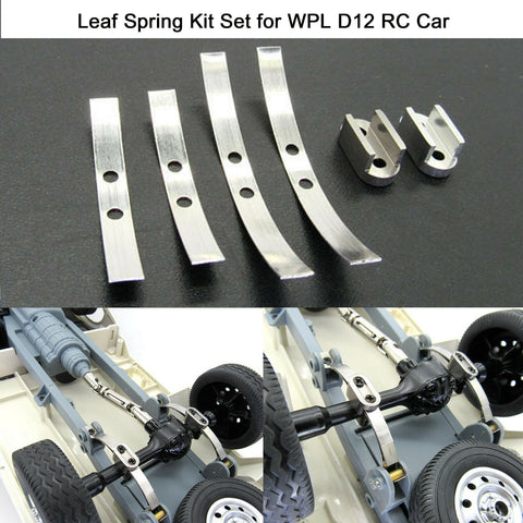 Pair Steel Shock Absorption Leaf Springs Suspension for WPL D12 B24-1