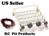 RC 1:10 Roof Luggage Rack W/ LED Light Bar Tamiya CC01 SCX10 Axial  US Seller