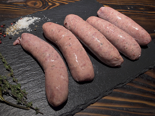 Herb & Garlic thick sausages