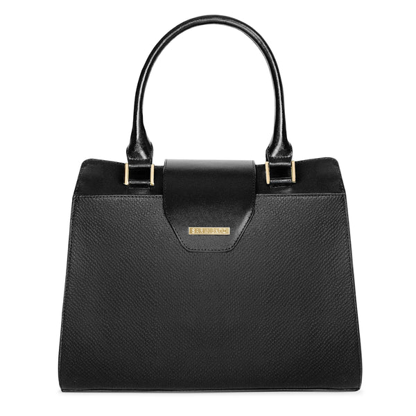 Ashley Top Handle Satchel (BLK)