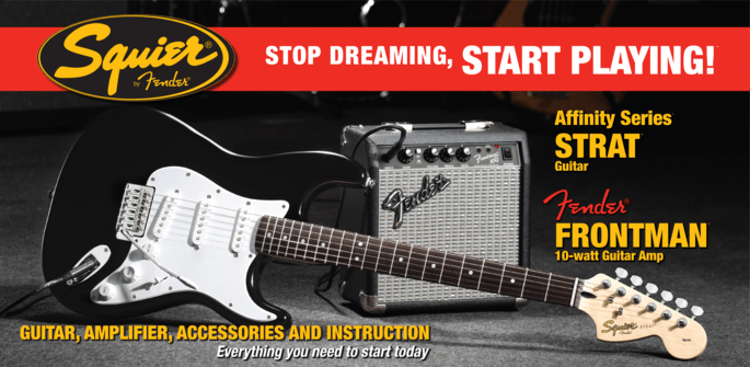 Squier Affinity Stratocaster Pack (w/FM10 Amplifier) - Somerset Music