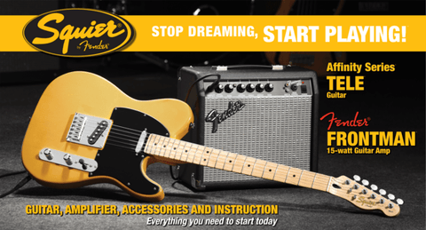 Squier Affinity Telecaster Pack (w/FM15G Amplifier) - Somerset Music