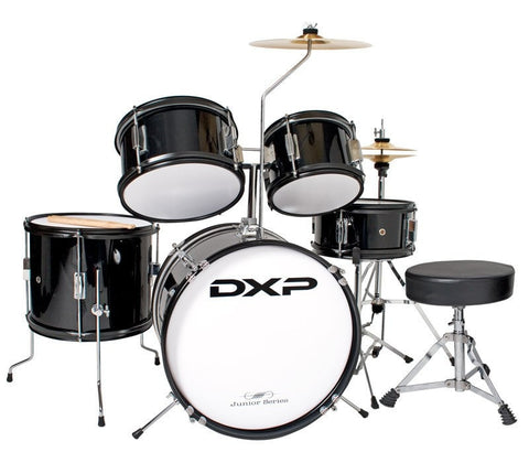 DXP Junior Series 5 piece Kit BLACK - Somerset Music