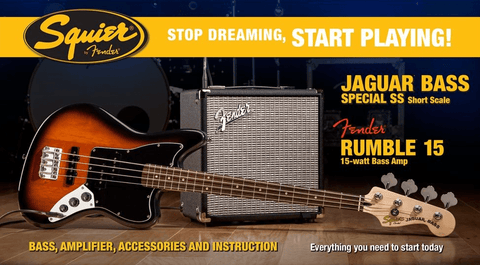 Squier Jaguar Bass Short Scale Pack - Somerset Music