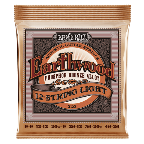 Ernie Ball Earthwood Phosphor-Bronze 12-String Acoustic Guitar Strings