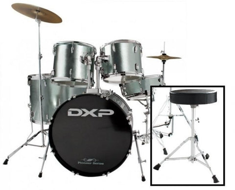 DXP Rock Drum Kit Pack - Gun Metal Grey - Somerset Music