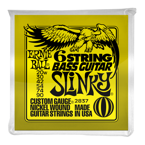 Ernie Ball Slinky 6-String w/ Small Ball End 29 5/8 Scale Bass Guitar Strings
